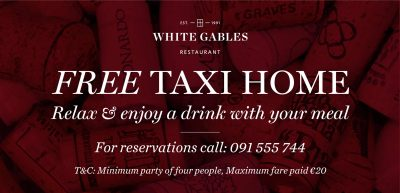 Free taxi home to the value of 20 for bookings of four people