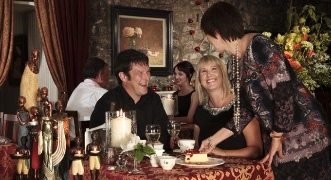 Couple having dinner in White Gables Galway