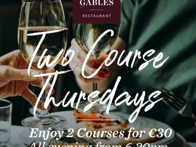 two course thursday @ white gables galway